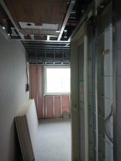 軽量工事の施工写真(横浜市の現場)